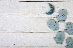 комплект элементов конструкции рождества утка глины предпосылки eggs изолированная формой белизна игрушек 2 гнездя Стоковые Фотографии RF