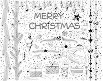 комплект элементов конструкции рождества стоковые изображения