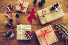 комплект элементов конструкции рождества Стоковое Изображение
