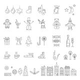 комплект элементов конструкции рождества Стоковые Фото