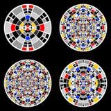 Комплект элементов круга дизайна Стоковые Изображения RF
