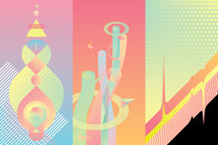 Комплект элементов современного дизайна цвета Стоковая Фотография