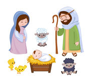 Комплект элементов сцены рождества Стоковое Изображение RF