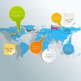 Комплект элементов туризма infographic с назначениями перемещения карты мира vector иллюстрация иллюстрация вектора