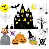 Комплект элементов хеллоуина Стоковая Фотография RF