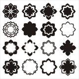 Комплект элементов цветка орнамента Стоковое фото RF