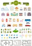 Комплект элементов для создавать ваш собственный современный город Стоковые Фотографии RF