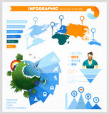Комплект элементов для создавать infographic о мире бесплатная иллюстрация