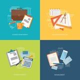 Комплект элементов для содержания образования, дела, маркетинга Стоковая Фотография RF