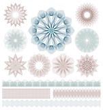 Комплект элементов Guilloche декоративных иллюстрация штока
