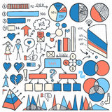 Комплект элементов Infographic Стоковая Фотография RF