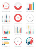 Комплект элементов infographics Стоковые Фото