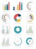Комплект элементов infographics Стоковые Изображения