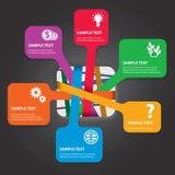 Комплект элементов infographics Стоковые Фотографии RF