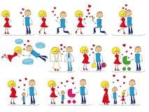 Комплект любовной истории иллюстрация вектора
