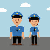 Комплект людей полиции иллюстрации вектора Стоковые Изображения