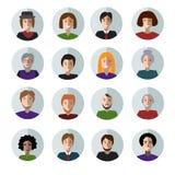 Комплект людей смотрит на плоские значки Стоковые Изображения RF