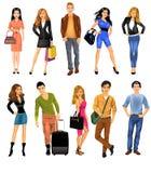 Комплект людей Стоковое Изображение