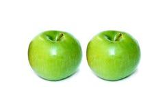 Комплект яблока показывая номера, номер два стоковые изображения rf
