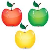 Комплект яблок Бесплатная Иллюстрация