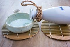 Комплект японского ради выпивая Стоковая Фотография