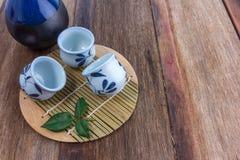 Комплект японского ради выпивая Стоковая Фотография RF