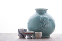 Комплект японского ради выпивая Стоковые Изображения
