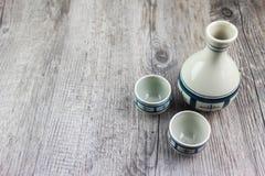 Комплект японского ради выпивая Стоковое Фото