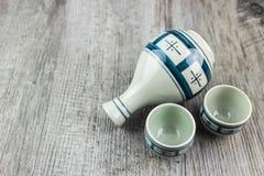Комплект японского ради выпивая Стоковое Изображение RF