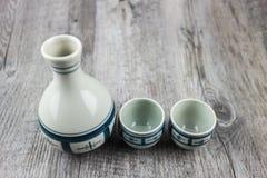 Комплект японского ради выпивая Стоковые Фотографии RF