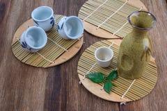 Комплект японского ради выпивая Стоковое Изображение