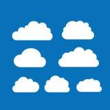 Комплект ярких белых облаков Стоковое Изображение RF