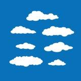 Комплект ярких белых облаков Стоковое Фото