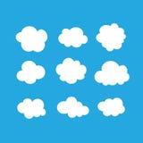 Комплект ярких белых облаков Стоковые Изображения RF