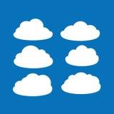 Комплект ярких белых облаков Стоковые Фото