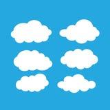 Комплект ярких белых облаков Стоковые Фотографии RF