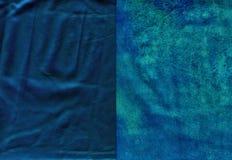 Комплект ярких голубых несенных кожаных текстур Стоковое фото RF