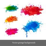 Комплект ярких предпосылок grunge иллюстрация вектора