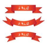 Комплект ярлыка знамени ленты продажи Стоковые Изображения RF