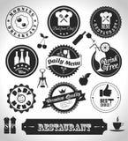 Комплект ярлыка кухни Стоковые Фото