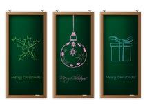 Комплект ярлыка рождества с украшениями рождества бесплатная иллюстрация