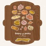 Комплект ярлыка хлебопекарни Бесплатная Иллюстрация