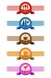 Комплект ярлыка для дизайна меню ресторана Стоковые Изображения RF
