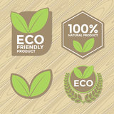 комплект ярлыка eco содружественный Стоковое Изображение