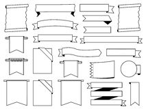 Белый комплект ярлыков Стоковая Фотография RF