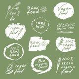 Комплект ярлыков еды Стоковые Изображения RF