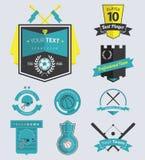 Комплект ярлыков и значка спортивного клуба ретро Стоковое Изображение RF