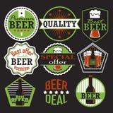 Комплект ярлыков пива Ретро стиль, иллюстрация вектора стоковые фото