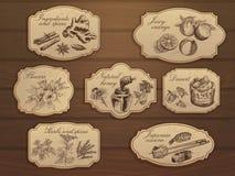 Комплект ярлыков сбора винограда Стоковые Изображения