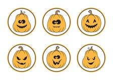 Комплект ярлыков хеллоуина Стоковые Изображения RF